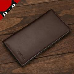 New high class wallet men long leather wallet wallet European and American business wallet multi - c Black RS815-1101