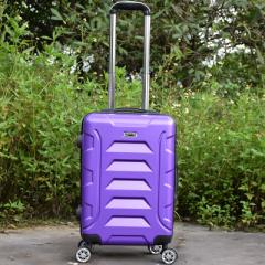ABS suitcase, 20-inch suitcase, universal wheel code suitcase, business boarding leather suitcase violet 20 inches