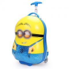 礼品公司定制蛋壳拉杆箱 16寸儿童旅行箱行李箱小孩拉杆箱印logo 小猪 16寸
