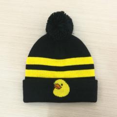 订做晴纶提花针织帽子 套头保暖休闲毛线帽专业厂家定制logo批发
