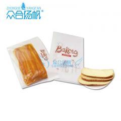 厂家批发ZHB017 吐司面包餐包方包开窗牛皮纸袋防油纸袋烘焙包装 16×4×26cm