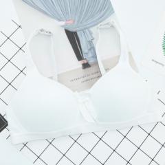 新款无钢圈少女 可爱 学生内衣 网店活动货源纯棉运动文胸爆款 白色 70A
