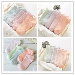 New style candy color socks short socks ladies pur Light purple Love of